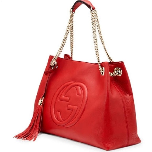 9d58798739e2 Gucci Handbags - Gucci Soho Medium Chain Tote